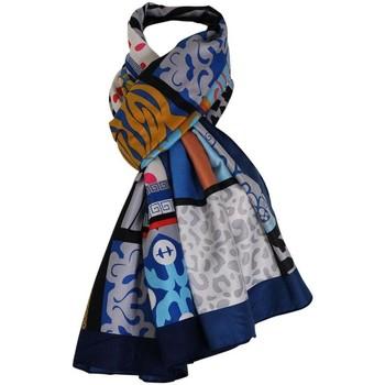 Accessoires textile Femme Echarpes / Etoles / Foulards Chapeau-Tendance Foulard soie Gérard Pasquier LOTUS Bleu