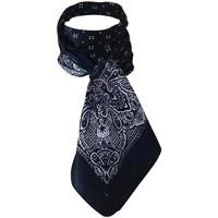 Accessoires textile Femme Echarpes / Etoles / Foulards Chapeau-Tendance Foulard polysatin fantaisie Bleu marine