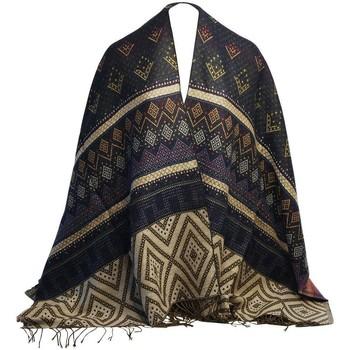 Accessoires textile Femme Echarpes / Etoles / Foulards Chapeau-Tendance Chale épais LOELINE Bleu