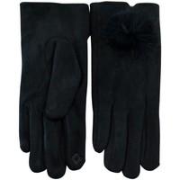 Accessoires textile Femme Gants Chapeau-Tendance Gants pompons LUIGIA Noir