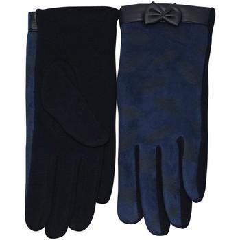 Accessoires textile Femme Gants Chapeau-Tendance Gants femme motif  PLUMES Bleu