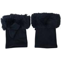 Accessoires textile Femme Gants Chapeau-Tendance Mitaines fausse fourrure ISOTTA Bleu