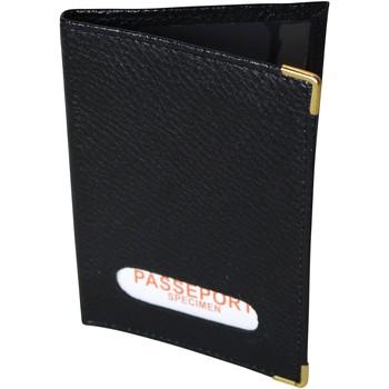 Sacs Portefeuilles Chapeau-Tendance Protège-passeport cuir Noir