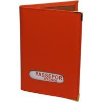 Sacs Portefeuilles Chapeau-Tendance Protège-passeport cuir Orange