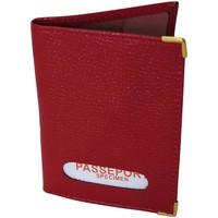 Sacs Portefeuilles Chapeau-Tendance Protège-passeport cuir Rouge