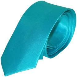 Vêtements Homme Cravates et accessoires Chapeau-Tendance Cravate unie slim Bleu turquoise