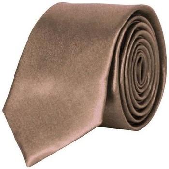 Vêtements Homme Cravates et accessoires Chapeau-Tendance Cravate unie slim Marron