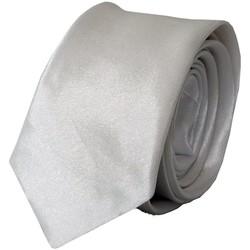 Vêtements Homme Cravates et accessoires Chapeau-Tendance Cravate unie slim Blanc