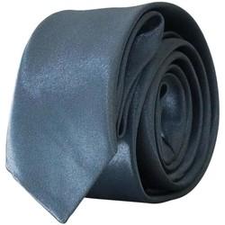 Vêtements Homme Cravates et accessoires Chapeau-Tendance Cravate unie slim Gris