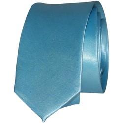 Vêtements Homme Cravates et accessoires Chapeau-Tendance Cravate unie slim Bleu ciel