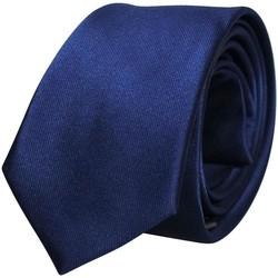 Vêtements Homme Cravates et accessoires Chapeau-Tendance Cravate unie soie Bleu marine