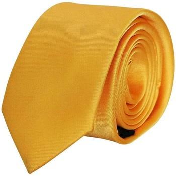 Vêtements Homme Cravates et accessoires Chapeau-Tendance Cravate unie soie Jaune