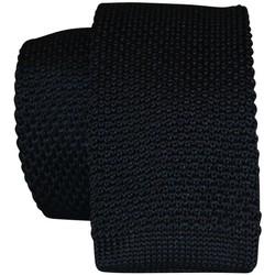 Vêtements Homme Cravates et accessoires Chapeau-Tendance Cravate tricot uni Noir