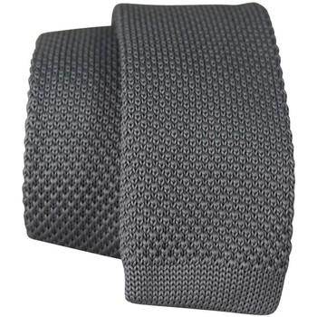 Vêtements Homme Cravates et accessoires Chapeau-Tendance Cravate tricot uni Gris
