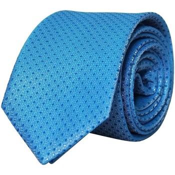 Vêtements Homme Cravates et accessoires Chapeau-Tendance Cravate soie à pois CONTIA Bleu ciel