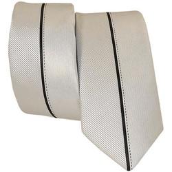 Vêtements Homme Cravates et accessoires Chapeau-Tendance Cravate avec liseré Gris