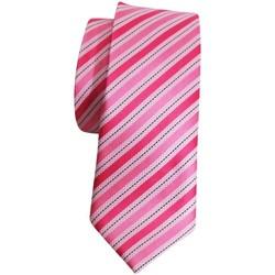 Vêtements Homme Cravates et accessoires Chapeau-Tendance Cravate soie line Rose