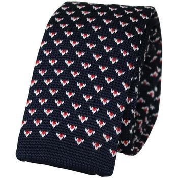 Vêtements Homme Cravates et accessoires Chapeau-Tendance Cravate tricot NINES Bleu marine
