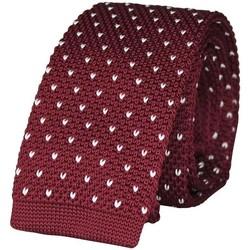 Vêtements Homme Cravates et accessoires Chapeau-Tendance Cravate tricot à pois Bordeaux
