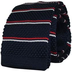 Vêtements Homme Cravates et accessoires Chapeau-Tendance Cravate tricot rayée Marine