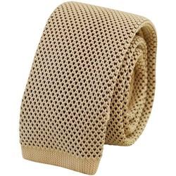 Vêtements Homme Cravates et accessoires Chapeau-Tendance Cravate tricot chinée Beige
