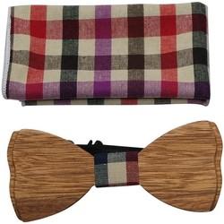 Vêtements Homme Cravates et accessoires Chapeau-Tendance Noeud papillon bois écossais Rouge