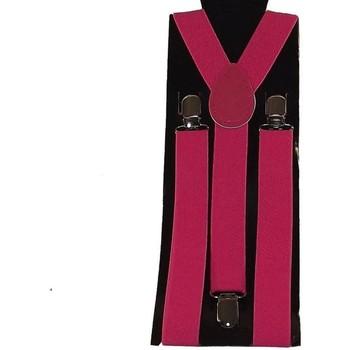 Accessoires textile Homme Ceintures Chapeau-Tendance Bretelles unies Rose