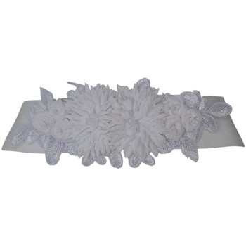 Accessoires textile Femme Ceintures Chapeau-Tendance Ceinture élastique FLEURS Blanc