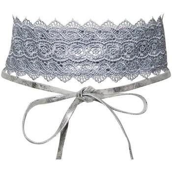 Accessoires textile Femme Ceintures Chapeau-Tendance Ceinture dentelle  Bariza Argent