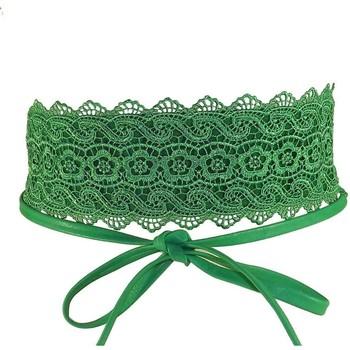 Accessoires textile Femme Ceintures Chapeau-Tendance Ceinture dentelle  Bariza Vert