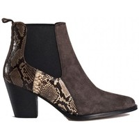 Chaussures Femme Bottines Reqin's Bottine jalis mix peau Gris