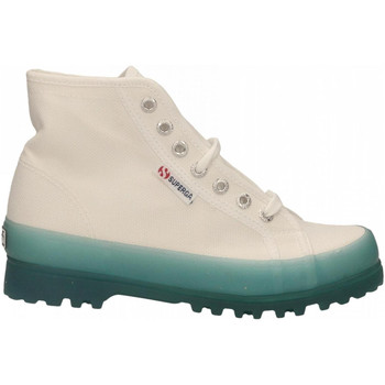 Chaussures Femme Baskets montantes Superga 2341-ALPINA JELLYGUM COTU a0a-white-blue-lt-crysta