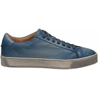 Chaussures Homme Baskets basses Santoni DERBY 7 OCC. FORGOOSE azzurro