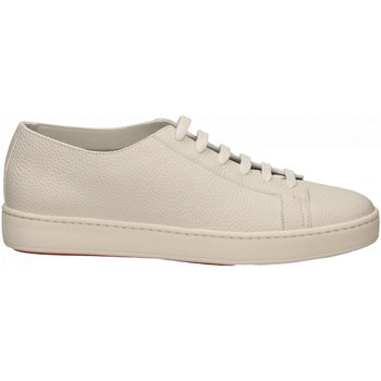 Chaussures Homme Baskets basses Santoni TENNIS 6F+T.LIS+INF. SUMMER bianco