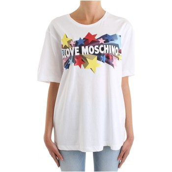 Vêtements Femme T-shirts manches courtes Love Moschino W 4 F87 29 M 3876 blanc
