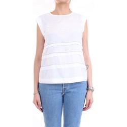 Vêtements Femme Tops / Blouses Cappellini M08166L1 haut femme blanc blanc