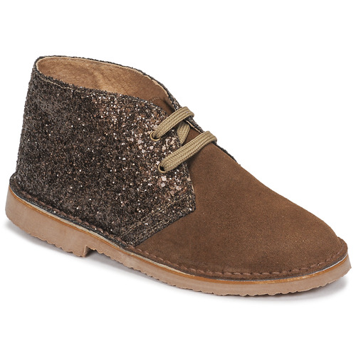 Chaussures Fille Boots Citrouille et Compagnie NINUP Taupe