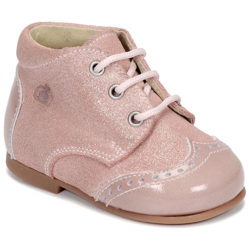 Chaussures Fille Boots Citrouille et Compagnie NONUP Rose