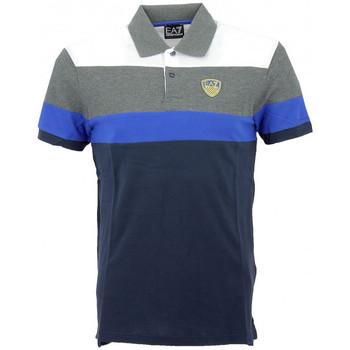 Vêtements Homme Polos manches courtes Ea7 Emporio Armani Polo EA7 Emporio$SKU Bleu