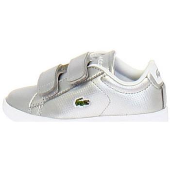 Chaussures Enfant Baskets basses Lacoste Basket Argent