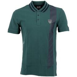 Vêtements Homme Polos manches courtes Emporio Armani EA7 Polos EA7 Emporio Vert