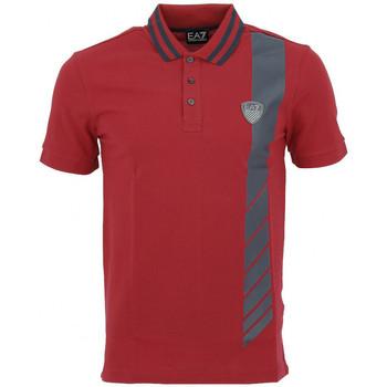 Vêtements Homme Polos manches courtes Ea7 Emporio Armani Polos EA7 Emporio Rouge