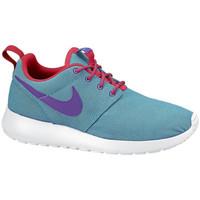 Chaussures Garçon Baskets basses Nike Basket  Roshe Bleu