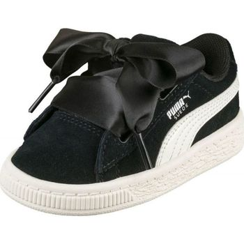 Chaussures Fille Baskets basses Puma Basket  Suede$SKU Noir