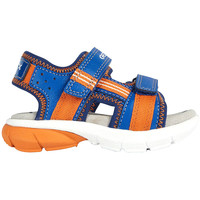 Chaussures Garçon Sandales sport Geox SANDALE B DOUBLE SANGLE FLEXYPER GARÇON Royal-Orange