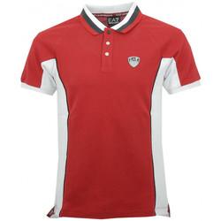 Vêtements Homme Polos manches courtes Emporio Armani EA7 Polos EA7 Emporio Rouge