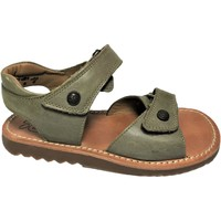 Chaussures Fille Sandales et Nu-pieds Pom d'Api WAFF VELCRO taupe