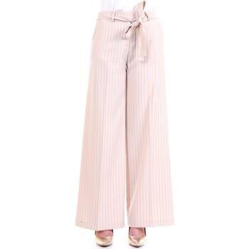 Vêtements Femme Pantalons fluides / Sarouels Lanacaprina PF2209 Lait