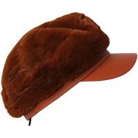 Accessoires textile Femme Casquettes Chapeau-Tendance Casquette fausse fourrure HARUNA Rouille