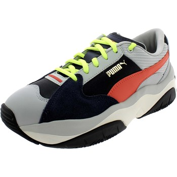 Chaussures Fille Baskets basses Puma STORMY GRIGIE Gris
